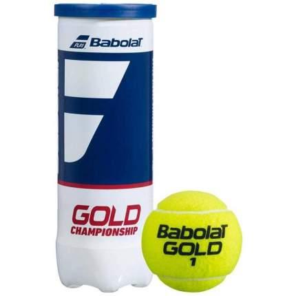 Теннисный мяч Babolat Gold Championship 3B 3 шт. желтый