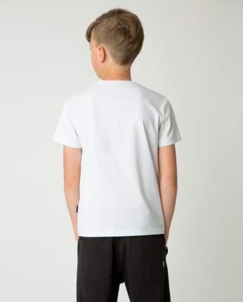 Белая футболка для мальчиков Gulliver, модель 220GSBC1201, размер 152