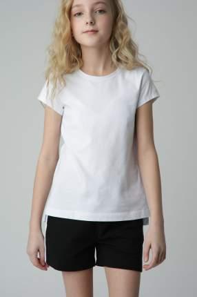 Белая футболка для девочек Gulliver, модель 220GSGC1209, размер 122