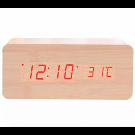 Настольные цифровые часы-будильник VST-862 (Бежевые)