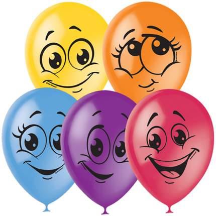 Воздушные шары Улыбки, 50 штук, пастель+декор