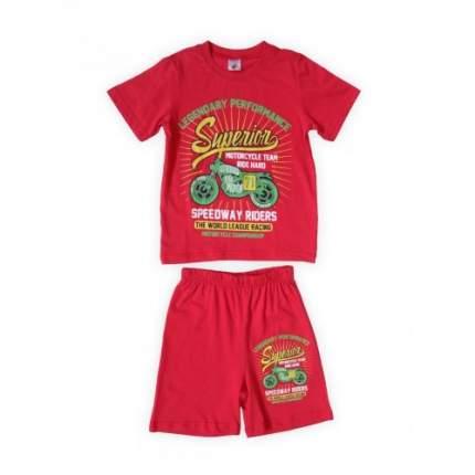 Комплект для мальчиков Красный Веселый Супер Львенок, цв. красный, р-р 110