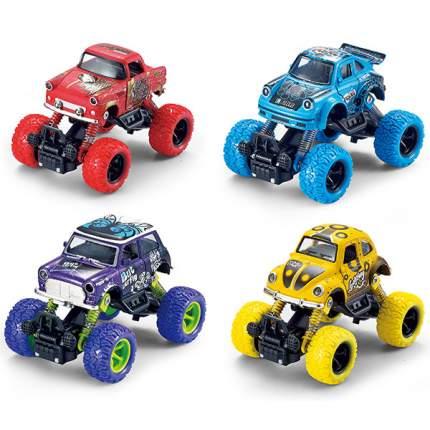 Машинка металлическая Wincarsс с большими колесами, 13 см