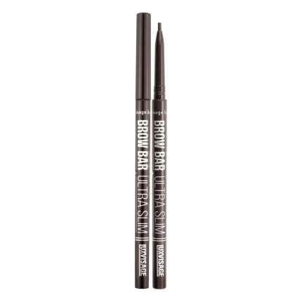 Ультратонкий механический карандаш для бровей luxvisage brow bar ultra slim тон 303 Smoky