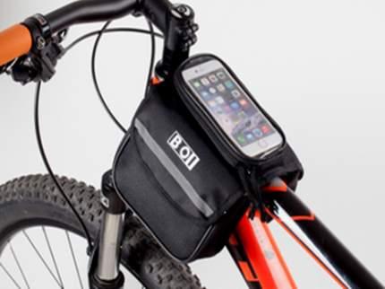 Велосипедная сумка Mingda NTB17300 черная/серая