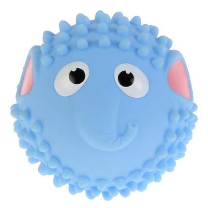 Игрушка для купания Мячик-слон, голубой, 8 см Играем Вместе