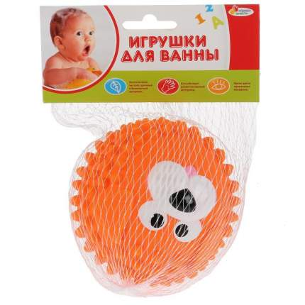 Игрушка для купания Мячик-собака, оранжевый, 8 см Играем Вместе