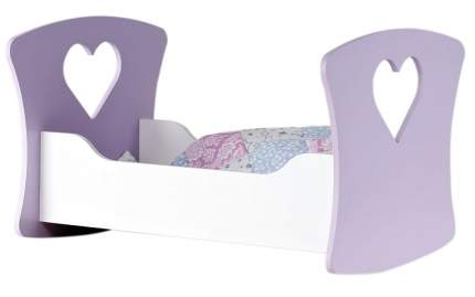 Кроватка-люлька Сердце ангела белый/сиреневый Коняша Авалон