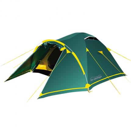 Палатка кемпинговая Tramp Stalker V2 трехместная зеленая