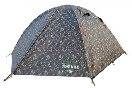 Палатка кемпинговая Tramp Lite Hunter трехместная серая