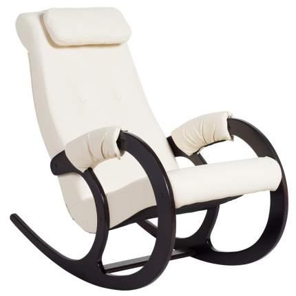 Кресло-качалка AVK Блюз Экокожа Cream