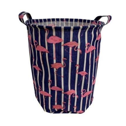 Корзина для игрушек Наша игрушка Фламинго с ручками, 35х42 см
