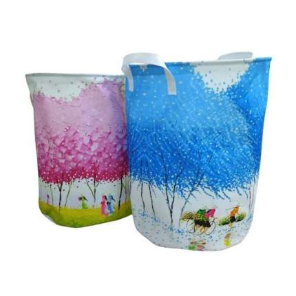 Корзина для игрушек Наша игрушка Цветущий сад с ручками, 35х45 см