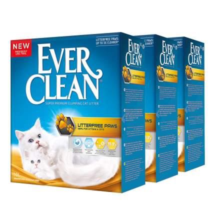 Комкующийся наполнитель для кошек Ever Clean Litter free Paws глиняный, 10 кг, 10 л, 3шт