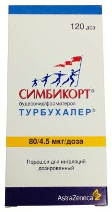 Симбикорт Турбухалер пор. для инг.доз.4,5мкг+80мкг/доза 120доз