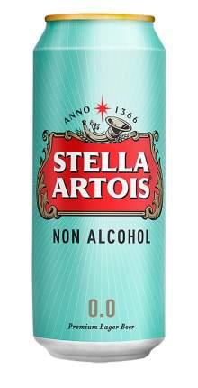 """Пиво """"Стелла Артуа безалкогольное""""  , БАНКА АЛЮМИНИЕВАЯ  0,45 л"""