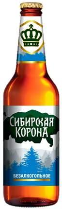 """Пиво """"Сибирская корона безалкогольное""""  СТЕКЛЯННАЯ БУТЫЛКА 0,47 л"""