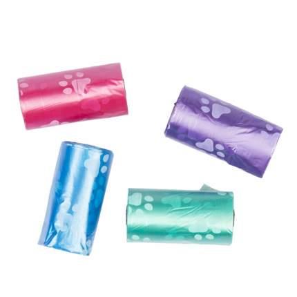 Пакеты для уборки за собакой Duvo+ Лапки, мультиколор, 4 x 20 шт