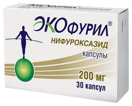 Экофурил капсулы 200 мг №30