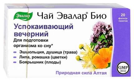 """Чай """"Эвалар Био"""" успокаивающий вечерний 2 г фильтр-пакет №20"""