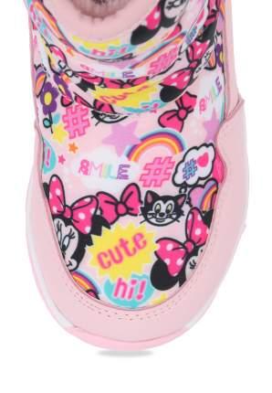 Дутики для девочек Minnie Mouse, цв. розовый, р-р 21
