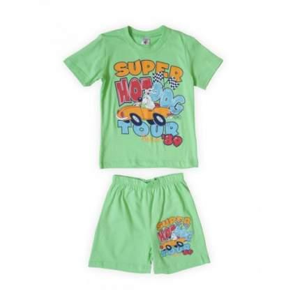 Комплект для мальчиков Салатовый Веселый Супер Львенок, цв. зеленый, р-р 110