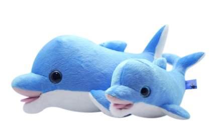 Мягкая игрушка АБВГДЕЙКА Дельфин Скайп, 45 см (голубой)