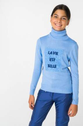 Водолазка для девочки Gulliver, цв.голубой, р-р 158