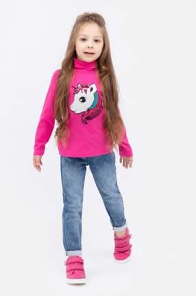 Водолазка для девочки PlayToday, цв.розовый, р-р 104