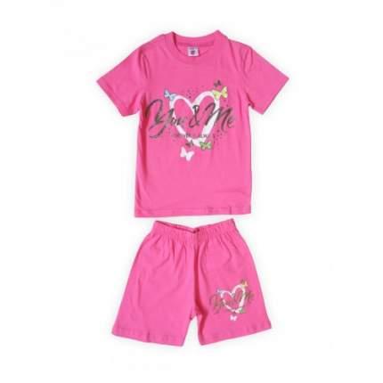 Комплект для девочек Малиновый Веселый Супер Слоненок, цв. розовый, р-р 116