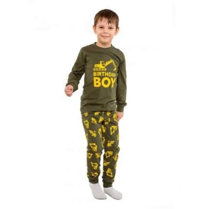 Пижама для мальчиков Ciggo, цв. хаки, р-р 98