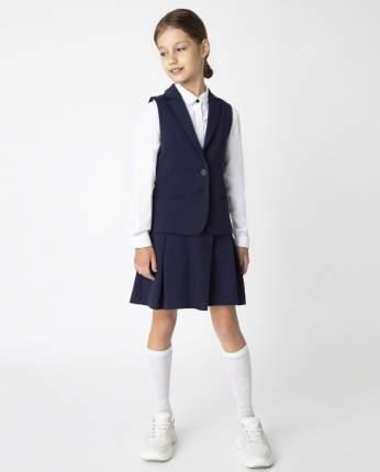 Синий жилет для девочек Gulliver, модель 220GSGC4701, размер 170