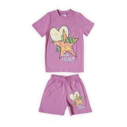 Комплект для девочек Сливовый Веселый Супер Слоненок, цв. бордовый; фиолетовый, р-р 128
