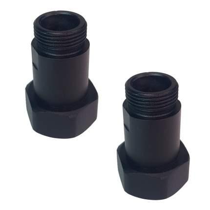 """Соединение прямое для полотенцесушителя indigo 33865, 1""""х3/4"""" пара, Черный"""