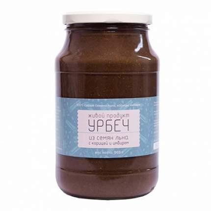 Урбеч из семян льна с корицей и имбирем Живой продукт 965 г