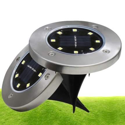 Водонепроницаемый садовый светильник Disk Lights на солнечных батареях 8 LED