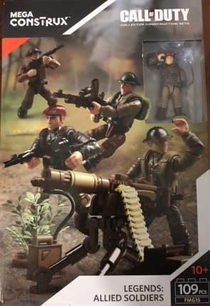 Конструктор Mega Construx Call of Duty Allied Soldiers Союзные войска, 109 деталей