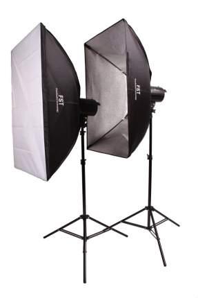 Комплект импульсных осветителей FST F-400 Softbox Kit