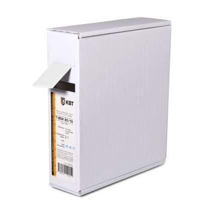 Термоусадочная трубка КВТ Т-BOX-6/3 бел 10м