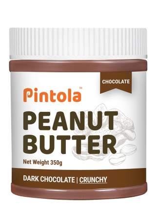 Кремовая арахисовая паста с шоколадом и кусочками арахиса Pintola Crunchy Chocolate, 350 г