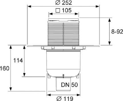 Трап TECE TECEdrainpoint S130 (3601300)