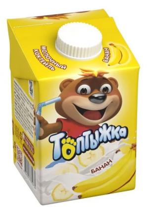 Коктейль молочный Топтыжка Банан 3,2% 500 г бзмж