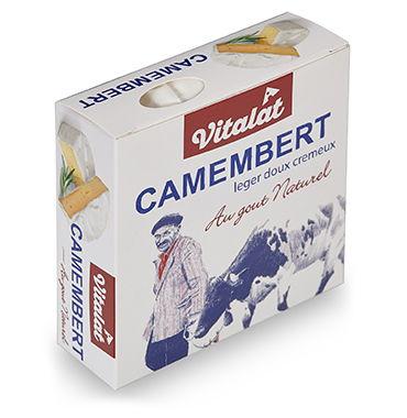 Сыр мягкий Vitalat Камамбер с белой плесенью 45% 125 г бзмж