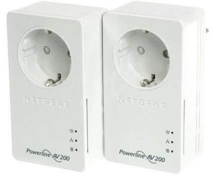 Комплект PLC адаптеров NETGEAR powerline AV+ 200 nano set (2шт. в комплекте)