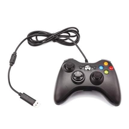 Геймпад  проводной для Xbox 360, черный. Controller for для Xbox 360