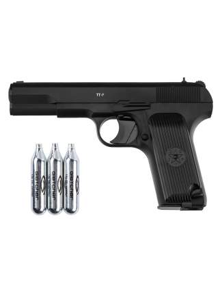 Пистолет пневматический Gletcher TT-P + 3 баллона CO2