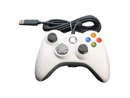 Геймпад  проводной для Xbox 360, белый. Controller for для Xbox 360