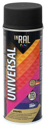 Эмаль аэрозольная  INRAL UNIVERSAL, черная матовая  RAL9011, 400ml