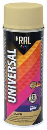 Эмаль аэрозольная  INRAL UNIVERSAL, бежевая RAL1001, 400мл