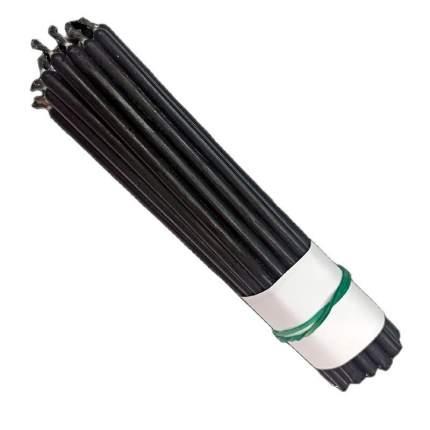 Свеча классическая восковая черная 15 см, 10 шт., 7770221-28-СЧ
